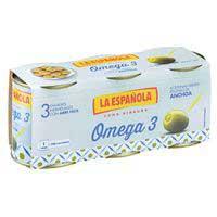 La Española Aceitunas rellenas omega 3 3x50g