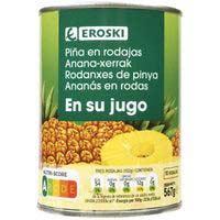 Pinya en rodanxes en el seu suc EROSKI, llauna 340 g