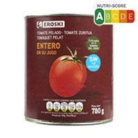 Eroski Tomate entero pelado 480g