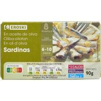 Eroski Sardinitas en aceite oliva 115g