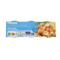 Eroski Sannia Atún claro aceite oliva bajo en sal 3x85g