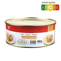 Atún en aceite de girasol EROSKI basic, lata 900 g