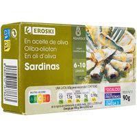 Eroski Sardinilla aceite oliva 90g