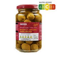 Eroski Olives camamilla gust anxova 190g