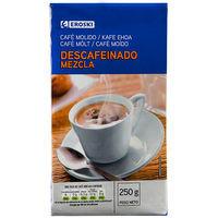 Eroski Cafè mòlt descafeïnat mescla 250g