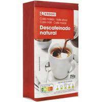 Eroski Cafè mòlt descafeïnat natural 250g