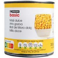 Blat de moro dolç EROSKIbasic, llauna 285 g