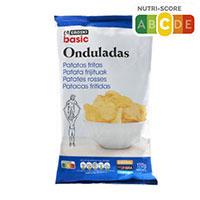 Eroski Basic Patatas onduladas Wavys 170g