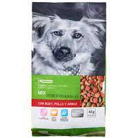 Eroski Comida perro mix buey/pollo/arroz 4kg