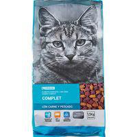 Eroski Comida gato seco carne/pescado 1,5kg