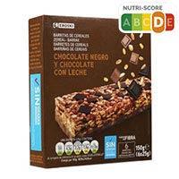 Eroski Barretes de cereals amb xocolata 6x25g