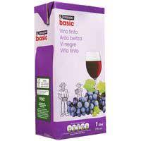 Eroski Basic Vino tinto de mesa brik 1l