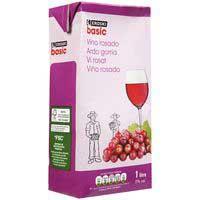 Eroski Basic Vi rosat de taula brik 1l