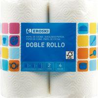 Eroski Papel de cocina 4 rollos dobles