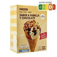 Eroski Basic Cono xocolata/vainilla 4x65gr