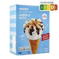 Eroski Basic Cono nata 4 uni 480ml
