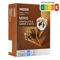 Eroski Mini cono chocolate/nata 30ml x 10