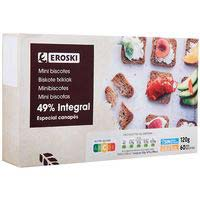 Eroski Sannia Mini biscottes integral 60 unidades 120g