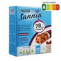 Sannia Barretes de cereals Absolut Vital fruits vermells 23g x 6