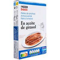 Eroski Basic Filet anxoves en oli vegetal 3X23g