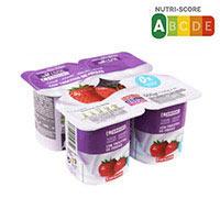 Eroski Yogur desnatado con fresas 0% 4x125g