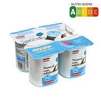 Eroski Basic Iogurt desnatat natural edulcorat 0% 4x125g