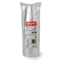Vaso transparente 330 cc NUPIK, pack 25 uds.