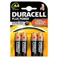 Pila alcalina Plus Power LR06 (AA) DURACELL, pack 4uds