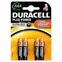 Pila alcalina Plus Power LR03 (AAA) DURACELL, pack 4uds