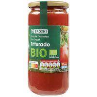 Eroski Tomate triturado ecológico frasco 660g