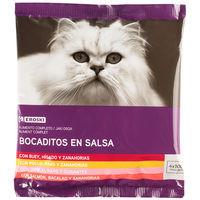 Eroski Comida gato salses sobres pack4x100g