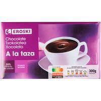 Xocolata a la tassa EROSKI, tauleta 300 g