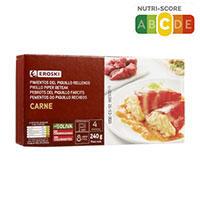 Eroski Pimientos rellenos carne 230g