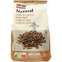 Cafè en gra natural EROSKIbasic, paquet 500 g