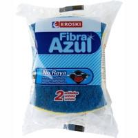 Eroski Fregall blau no ratlla amb esponja 3u