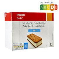 Eroski Basic Sandwich nata 6u 600ml