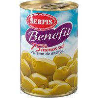 Serpis Olives farcides Benefit 75 % menys sal 130g