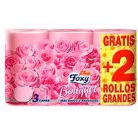 Papel higiénico color FOXY, paquete 6 rollos