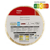 Eroski Basic Base pizza 3x125g