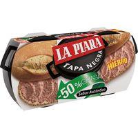 La Piara Paté tapa negra 50% greix 73g x 2