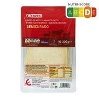 Eroski Basic Queso mezcla semi lonchas 200g
