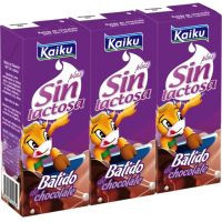 Kaiku Batido chocolate sin lactosa 3x200ml