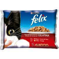 Aliment humit de carn per a gatFÉLIX,pack4x100g