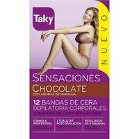 Taky Bandas depilatorias corporales chocolate naranja 10u