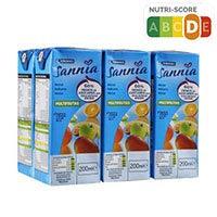 Eroski Sannia Néctar de multifrutas sin azúcares añadidos 6x20cl