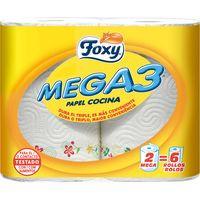 Foxy Papel de cocina mega 3 capas 2 = 6u