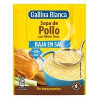 Gallina Blanca Sopa pollastre amb fideus fins baixa en sal 60g