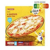 Eroski Pizza 4 formatges 350g