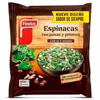 Findus Espinacas con pasas y piñones 400g