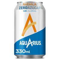 Aquarius Naranja sin azúcar lata 33cl